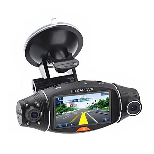2,7 дюйма, HD 1080P, автомобильная камера с двумя объективами, автомобильный видеорегистратор, 140 градусов, передняя и задняя видеорегистратор, автоматический регистратор, G-сенсор, автомобильная