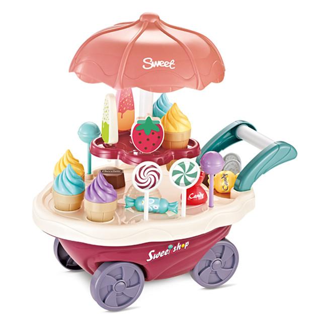 Jouet de chariot de crème glacée Petites Voiture Nourriture Factice / Faux Aliments Bateau Glace Simulation Plastique Enfant Garçon Fille Jouet Cadeau 1 pcs