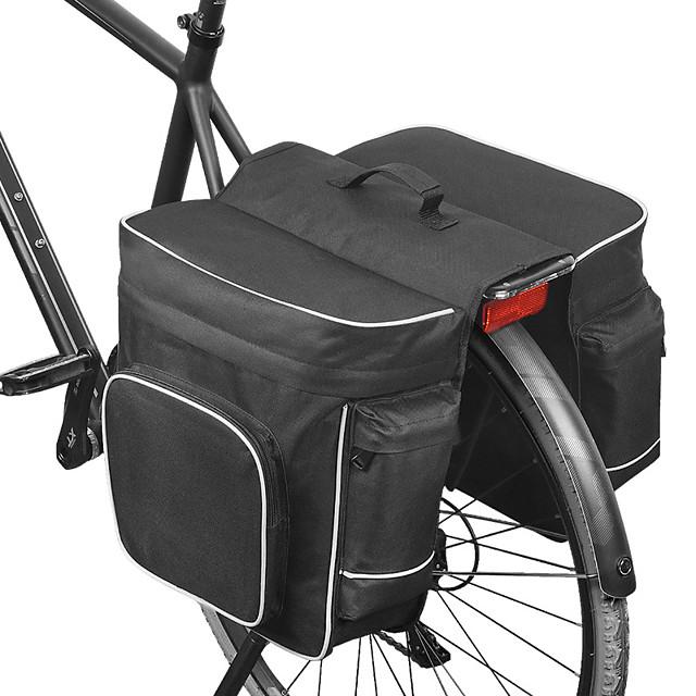 ROSWHEEL 30 L Borsa posteriore da bici / Portapacchi da bici Borse posteriori da bici Regolabile Massima capacità Ompermeabile Borsa da bici Rete Poliestere 600D Marsupio da bici Borsa da bici