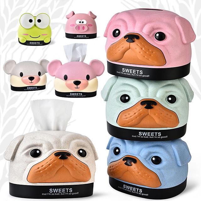 קריקטורה אופנה בובי כלב דוב חזיר רב תכליתי נייר שאיבה מגש קופסות אחסון קופסות טישו