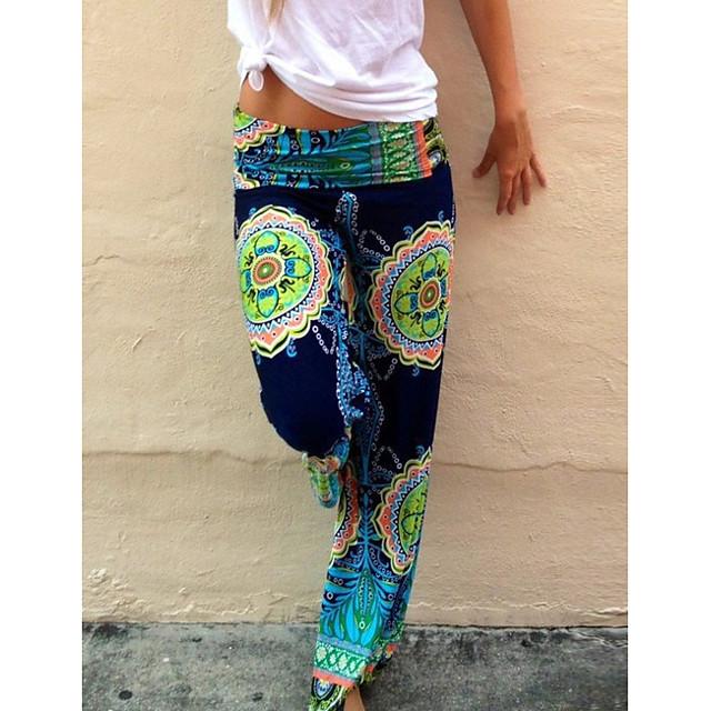 Women's Basic Chinos Pants Print Green
