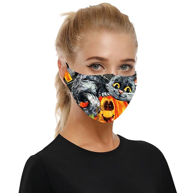 masque en tissu respirant anti-poussière halloween pour hommes et femmes avec filtre insérable