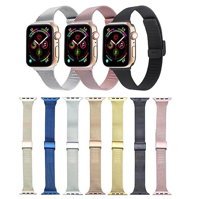 Ремешок для часов для Серия Apple Watch 5/4/3/2/1 Apple Классическая застежка / Миланский ремешок Нержавеющая сталь Повязка на запястье