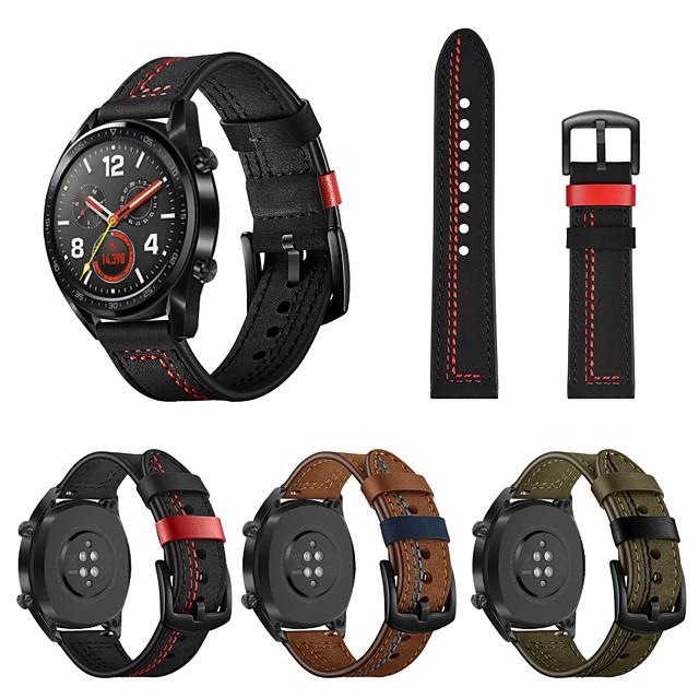 Ремешок для часов для Huawei Watch GT / магия чести huawei / Huawei Watch GT 2 Huawei Кожаный ремешок Натуральная кожа Повязка на запястье
