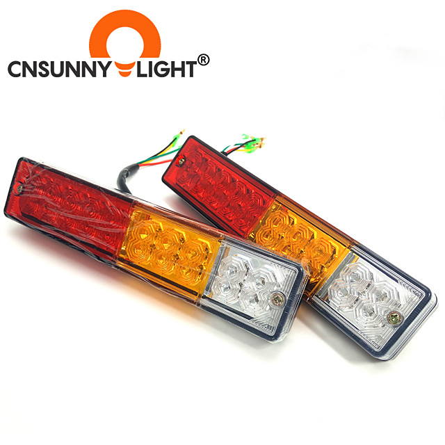 cnsunnylight car truck 20 led 10w fanale posteriore luci di avvertimento luci posteriori coppia rimorchio per barca impermeabile tailight parti per roulotte dc 12v 24v