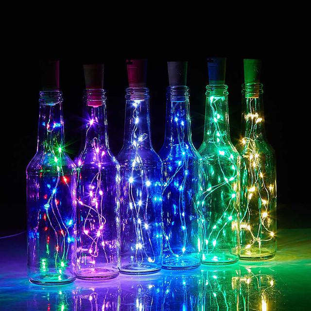 led sticlă șir lumini în formă de plută 30buc 12buc 10buc led lumină înstelată de noapte 2m 20led dop de sârmă de cupru sticlă de vin lampă petrecere de nuntă decor de Crăciun