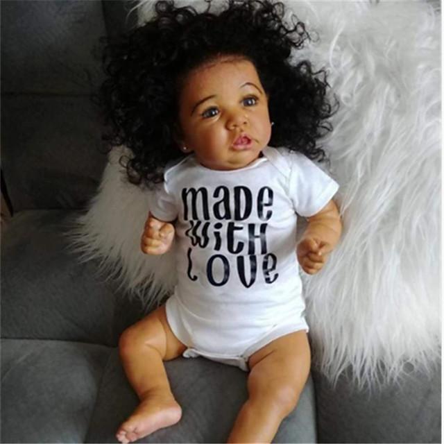 22 inch Reborn-dukker Baby- og småbørnslegetøj Babypiger Reborn Baby Doll Saskia livagtige Håndlavet Simulering Hånd Anvendte Øjenvipper Floppy Head Klæde Silicone Vinyl med tøj og tilbehør til
