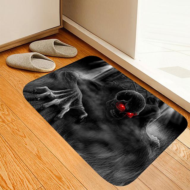 halloween rode ogen demon digitaal printen vloermat bloemen kitten meisje moderne badmatten niet-geweven / traagschuim nieuwigheid badkamer