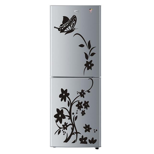 Haute qualité créatif réfrigérateur autocollant papillon motif stickers muraux décoration de la maison cuisine mur art mural décor