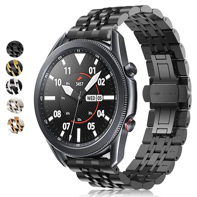 Urrem for Samsung Galaxy Watch 46 / Samsung Galaxy Watch 42 / Samsung Galaxy Watch Aktiv Samsung Moderne spænde / Forretningsbånd Rustfrit stål Håndledsrem