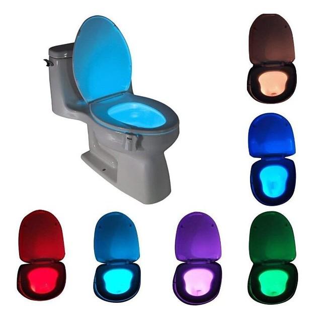 Senzor de mișcare activat de mișcare cu lumină de noapte cu led cu toaletă de schimbare impermeabilă în 8 culori pentru lumina scaunului de toaletă de siguranță pentru copii