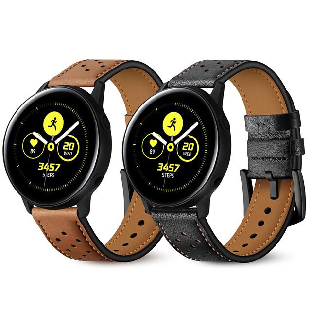 Watch kapela pro Samsung Galaxy Watch aktivní / Samsung Galaxy Watch Active 2 Samsung Galaxy Kožená smyčka Pravá kůže Poutko na zápěstí