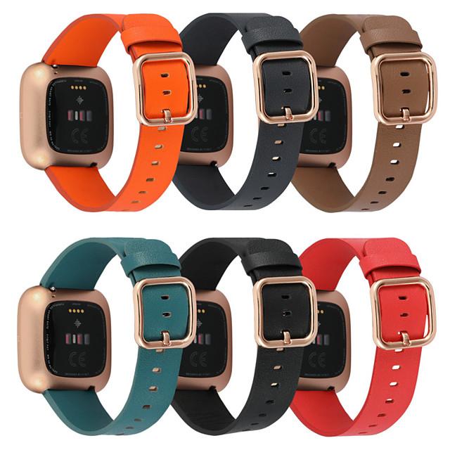 Ремешок для часов для Fitbit Versa / Fitbit Versa Lite / фитбит наоборот 2 Fitbit Классическая застежка Натуральная кожа Повязка на запястье