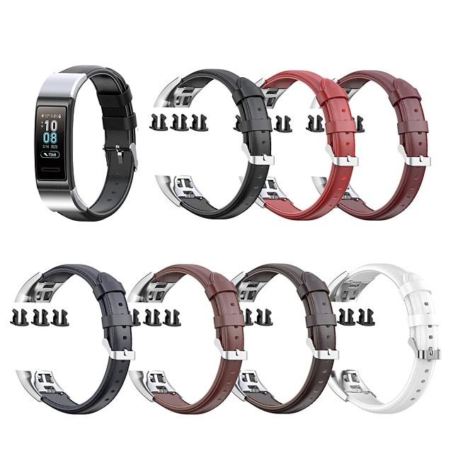 Ремешок для часов для Huawei Band 3 Pro / Huawei band 4 pro Huawei Классическая застежка Натуральная кожа Повязка на запястье