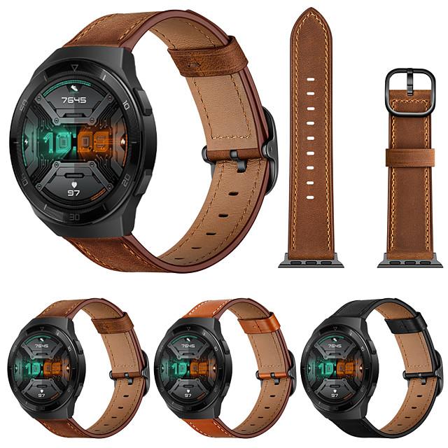Ремешок для часов для Huawei Watch GT / Huawei Watch GT 2e Huawei Кожаный ремешок Натуральная кожа Повязка на запястье