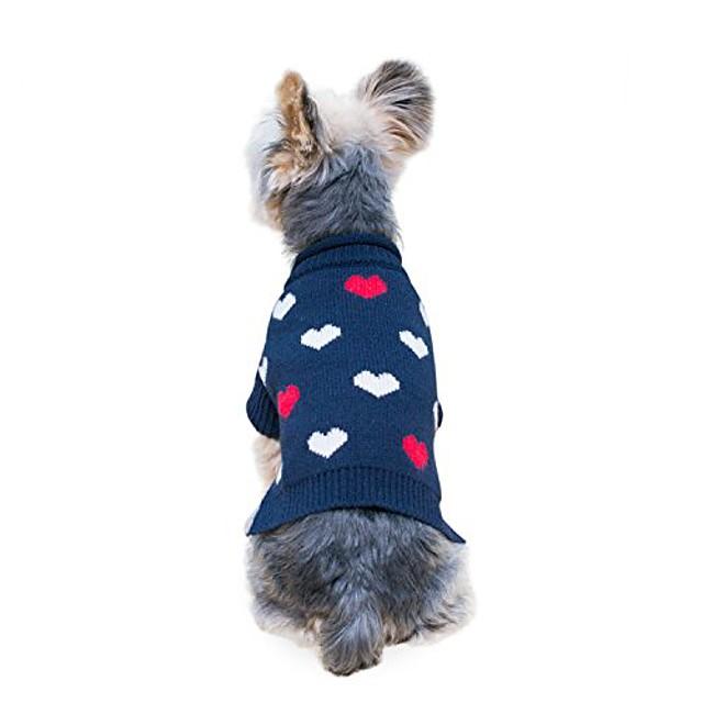 pulover mini câine inimă fistic mărime # 08