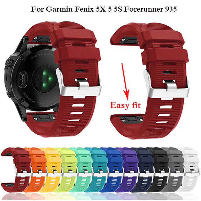 Ремешок для часов для Fenix 5x / Fenix 5s / Fenix 5 Garmin Современная застежка силиконовый Повязка на запястье