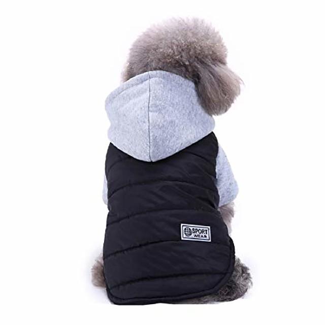מעיל קפוצ'ון לכלבים חורף מעיל עמיד למים לכלבים בגדי ספורט חורף להלבשה חמה לכלבים שחור