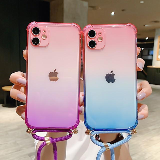 hoesje Voor Apple iPhone 12 / iPhone 12 Mini / iPhone 12 Pro Max Schokbestendig / Stofbestendig Achterkant Kleurgradatie TPU