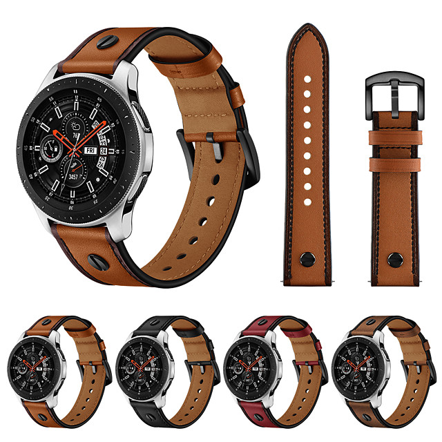 pásek na hodinky pro samsung galaxy hodinky 46mm samsung galaxy kožená smyčka řemínek z pravé kůže na zápěstí