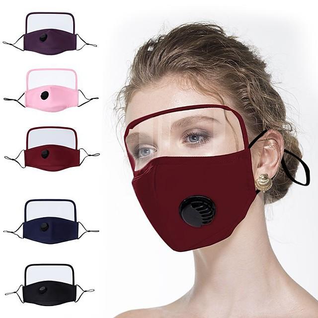 1 kpl suojamaskit puhdasta puuvillaa naamio ohut puuvilla suojaava yksiosainen naamio koko kasvot näytön kasvonsuojain silmiensuojaus puuvilla naamio