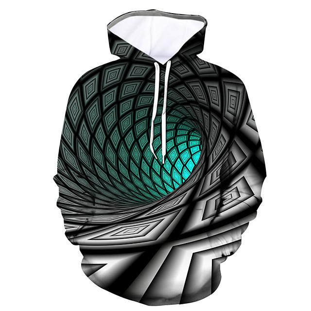 Voor heren Trui met capuchon Grafisch Dagelijks Uitgaan 3D-afdrukken 3D-print Hoodies Sweatshirts Klaver