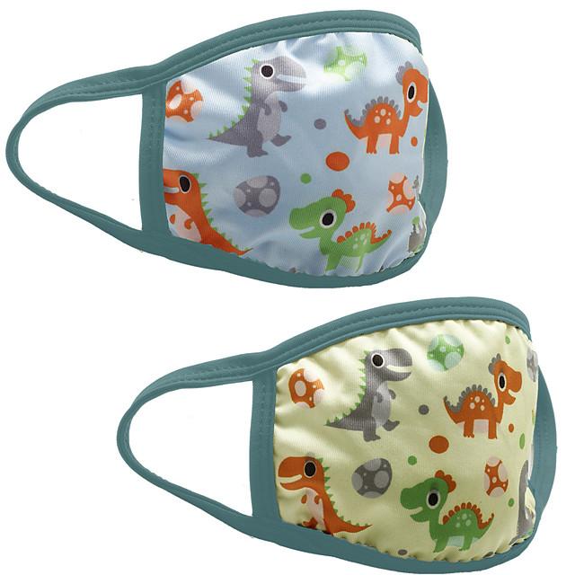 3 pcs masques en coton masques pour enfants anti-poussière masques de dessin animé lavables peuvent être insérés PM2.5 masques en coton respirant