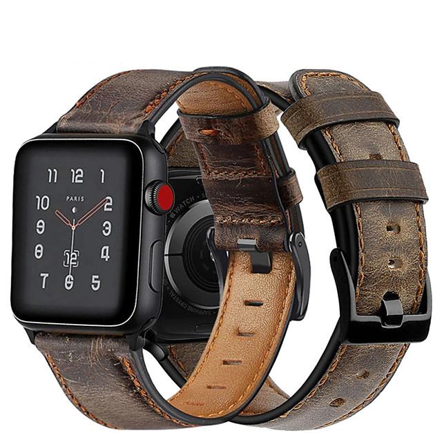 Cinturino intelligente per Apple  iWatch 1 pcs Chiusura classica Banda di affari Similpelle Sostituzione Custodia con cinturino a strappo per Apple Watch Serie 6 / SE / 5/4 44 mm Apple Watch Serie 6