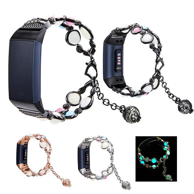 voor fitbit charge 3 4 slimme armbandband lichtgevende kralen roestvrijstalen horlogebandlus voor fitbit charge 3 4 polsband