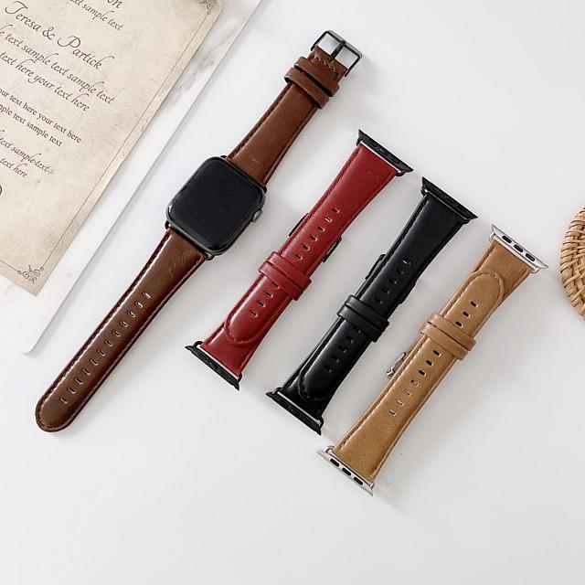Ремешок для часов для Серия Apple Watch 5/4/3/2/1 Apple Бизнес группа Натуральная кожа Повязка на запястье