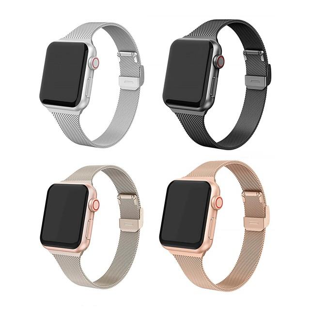 Inteligentny pasek do zegarka na Apple  iWatch 1 pcs Nowoczesna klamra Stal nierdzewna Zastąpienie Opaska na nadgarstek na Apple Watch Series SE / 6/5/4/3/2/1
