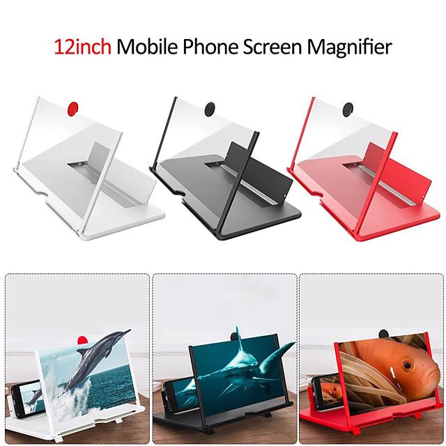חדש 12 אינץ 'טלפון סלולרי מסך זכוכית מגדלת hd מגבר וידאו עם בעל מתקפל זכוכית מגדלת סוגר מעמד לטלפון חכם