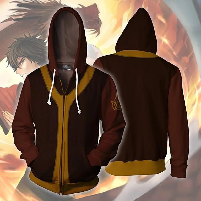 Inspiriert von Avatar:Die Legende von Aang (Avatar - Der Herr der Elemente) Zuko Cosplay Kostüme Kapuzenshirt Terylen 3D Print Kapuzenshirt Für Herrn / Damen