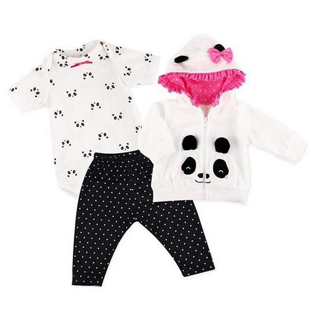 Vêtements de poupées Reborn Baby Accessoires de poupée Reborn Tissus pour 20-22 pouces Reborn Doll Poupée Reborn Non Incluse Doux Pur fait main Fille 4 pcs