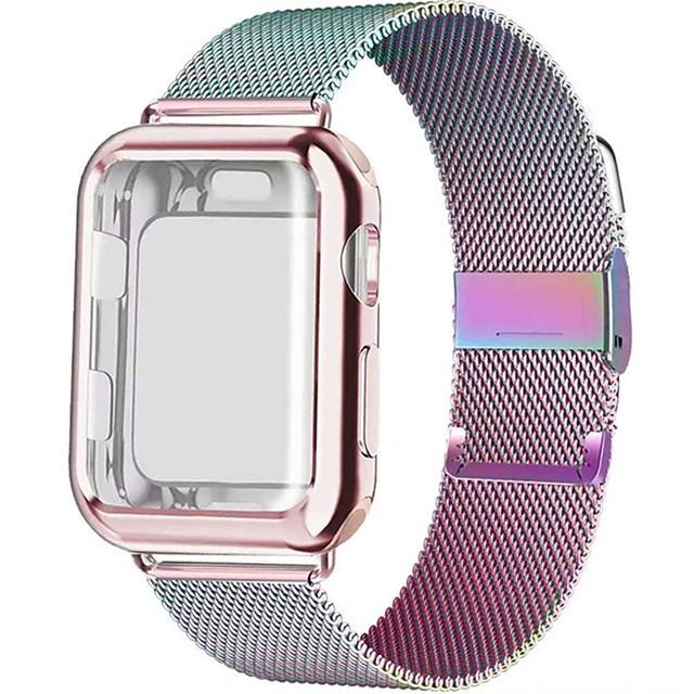 Ремешок для часов для Apple Watch Series 6 / SE / 5/4 44 мм / Apple Watch Series 6 / SE / 5/4 40 мм Apple Миланский ремешок Нержавеющая сталь Повязка на запястье