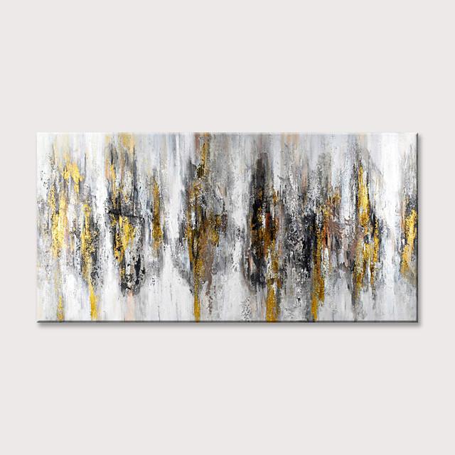 Hang-geschilderd olieverfschilderij Handgeschilderde - Abstract Modern Zonder Inner Frame (Geen frame)