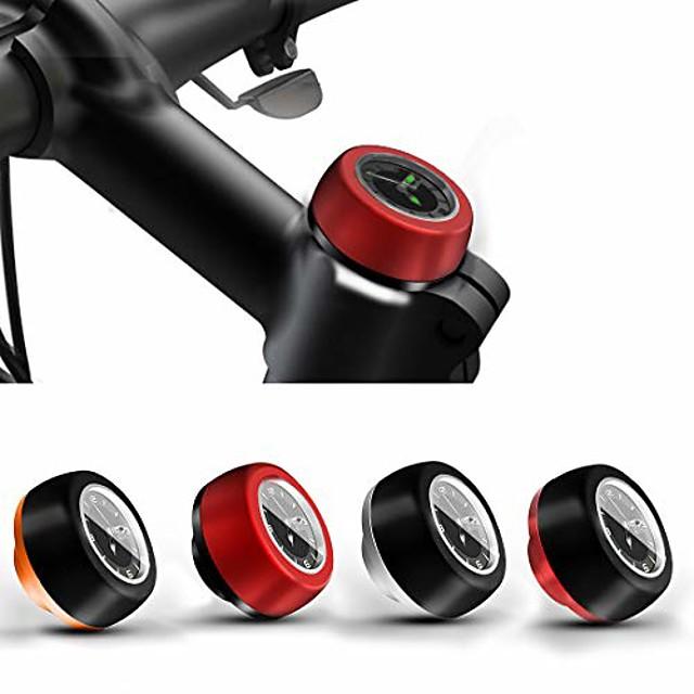 mtb bici da strada bicicletta auricolare stelo orologio, parti di testa da ciclismo auricolare da bici coperchio stelo tappo superiore (nero e arancione)