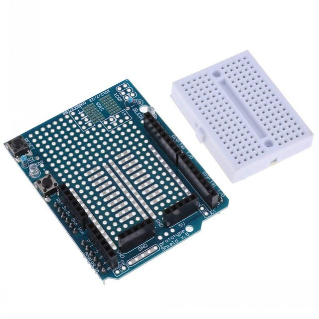 UNO R3 Proto Shield Prototype Expansion Board with SYB-170 Mini Breadboard Based for Arduino UNO R3 ProtoShield