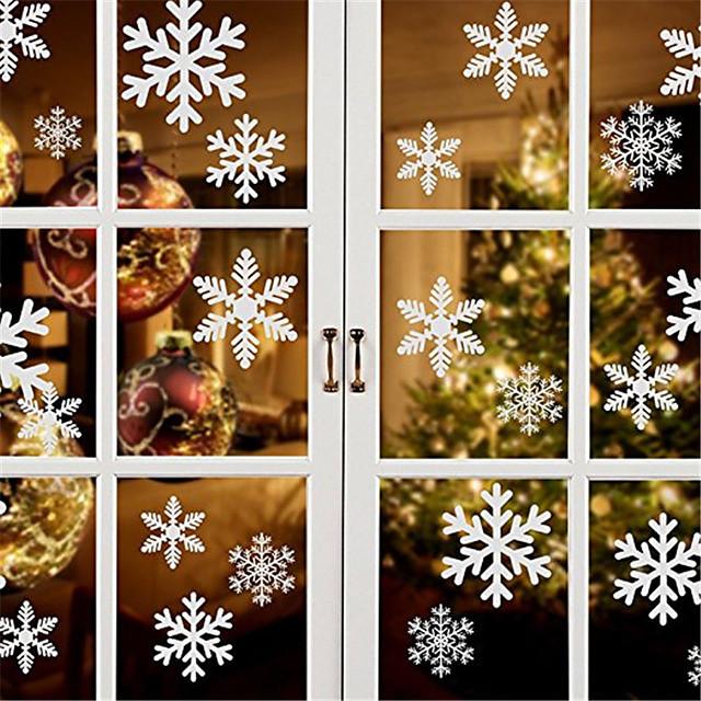 عيد الميلاد ندفة الثلج نافذة ملصق عيد الميلاد ملصقات الحائط غرفة جدار الشارات زينة عيد الميلاد للمنزل العام الجديد
