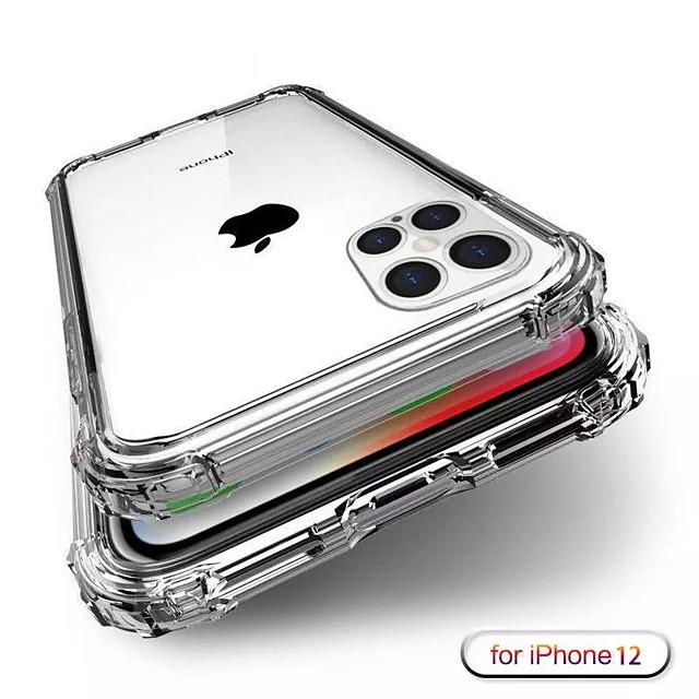 сверхмощный защитный чехол для iphone 12 11pro xs max x se 2020 четырехугольный усиленный силиконовый прозрачный чехол для iphone xr xs max 8 7 6 plus