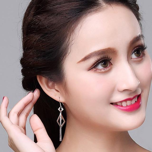 Dames Oorbellen hangen Kwastje Mode modieus Koreaans oorbellen Sieraden Zilver Voor Feest / Avond Lahja 1 paar