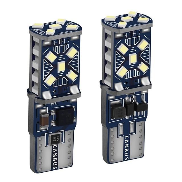2 pcs T10 W5W Super Lumineux LED Largeur De Voiture Lumières WY5W 168501 2825 Auto Coin Tourner les Ampoules Latérales Ampoule De Lecture Intérieur De Voiture T10 Can-Bus LED Dôme Lampe W5W Couleur