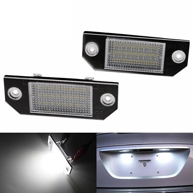 2 pcs 2 W 12 V 6500 K LED Numéro De Plaque D'immatriculation Lumières Couleur Blanc Pur Pour Ford Focus C-Max 03 Ford Focus MK2 03-08
