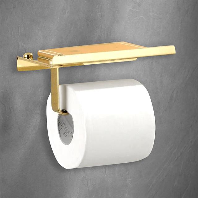 suport de hârtie igienică design premium / cool modern din oțel inoxidabil 1 buc montat pe perete
