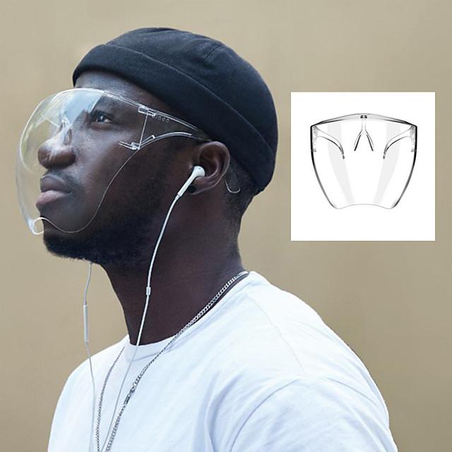 1 confezione visiera maschera protettiva trasparente imitazione maschera isolante copertura integrale visiera riutilizzabile protezione per il viso e scudo per la bocca