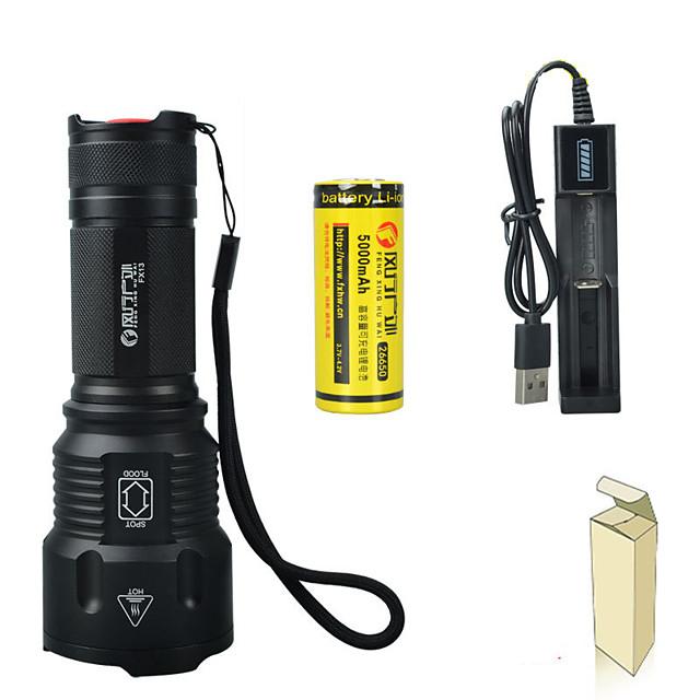 FX13 Lampes Torches LED LED LED 1 Émetteurs 3 Mode d'Eclairage Portable Ajustable LED Durable Camping / Randonnée / Spéléologie Usage quotidien Cyclisme USB Blanc Couleur de source