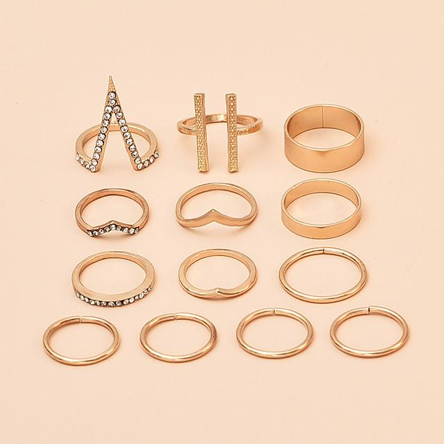 Ring Gold Alloy Elephant Punk Rock Africa Middle Finger / Women's