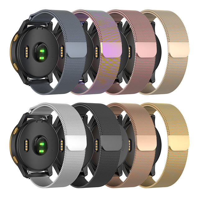 Cinturino intelligente per Samsung Galaxy 1 pcs Cinturino a maglia milanese Acciaio inossidabile Sostituzione Custodia con cinturino a strappo per Samsung Galaxy Active Samsung Galaxy Watch Active 2
