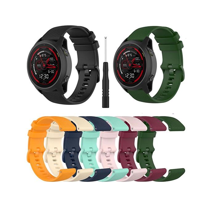 22mm moderne Schnallenarmband Smartwatch für Garmin Vorläufer 745 Band Silikon Sportuhrband