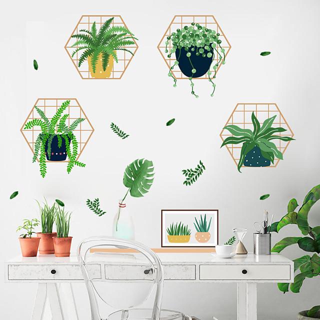 Bloemenmotief / Botanisch Muurstickers 3D Muurstickers Decoratieve Muurstickers, PVC Huisdecoratie Muursticker Wand Decoratie 1pc